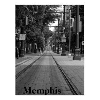 Memphis Trolley Tracks Postcard