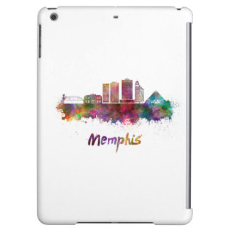 Memphis V2 skyline in watercolor iPad Air Covers