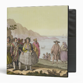 Men and women in elaborate costume, Chile, from 'L Vinyl Binder