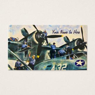 Men At Work Vintage Business Card