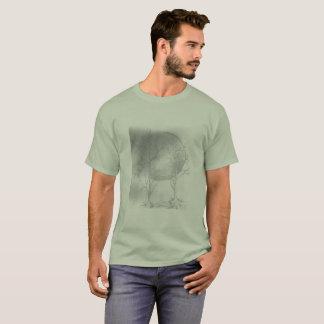 men basic t-shirt moon