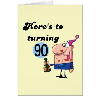 Men birthday greeting card