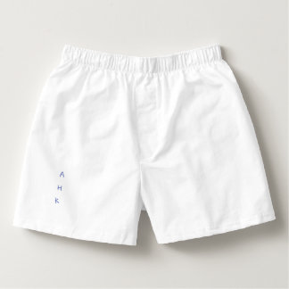 MEN COTTON WHITE BOXERS