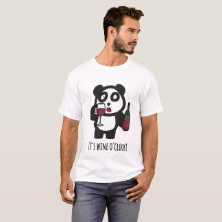 Men - Drinking Panda - It's wine o'clock! T-Shirt