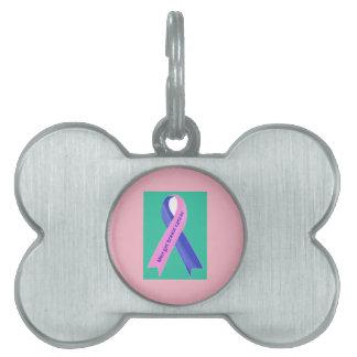 men get breast cancer pet ID tag