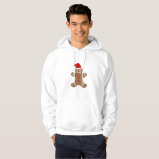 Men hooded sweatshirt Ginger bread design