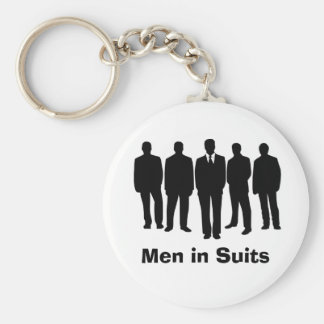 men in suits keychain