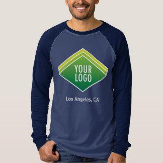 Men Long Sleeve Raglan Shirt Promotional Logo