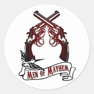Men of Mayhem Round Sticker