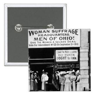 Men of Ohio! : 1912 2 Inch Square Button