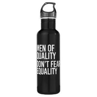 Men of Quality don't fear Equality - - white - 710 Ml Water Bottle