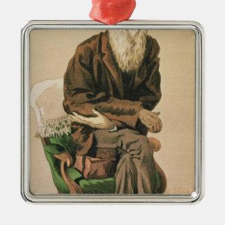 Men of the Day, no. 33, Charles Darwin Silver-Colored Square Ornament