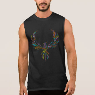 Men or Ladies United We Rise Phoenix Dark Sleeveless Shirt