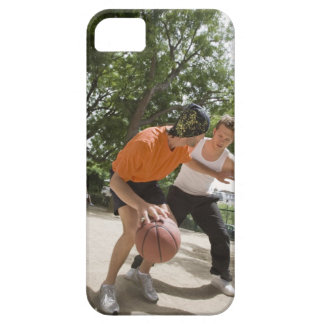 Men playing basketball outdoors iPhone 5 covers