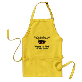 Men Playing with Fire: Warm and Pink Standard Apron
