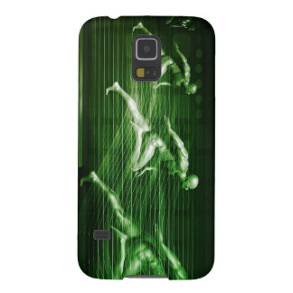 Men Running on Technology Background as a Science Galaxy S5 Covers