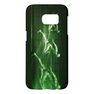 Men Running on Technology Background as a Science Samsung Galaxy S7 Case