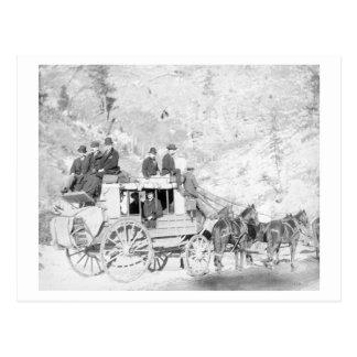 "Men Sitting on a ""Deadwood Coach"" Photograph Postcard"
