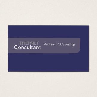Men Style  Plain Design Minimalist Business Card