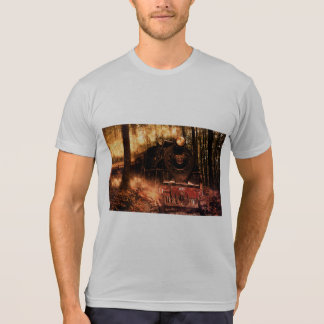 Men T-shirt Train in the forest