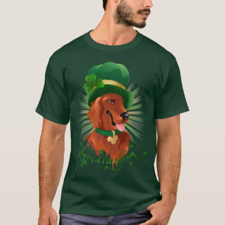Men T-shirt with Irish Setter character