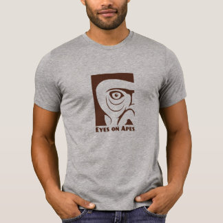 Men/Unisex Gray Eyes on Apes T-shirt