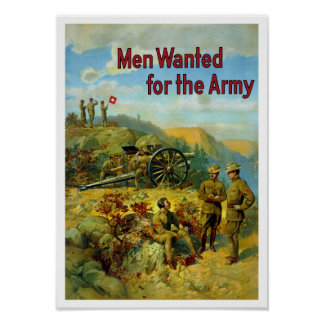Men Wanted For The Army -- WW1 Posters