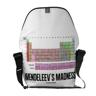 Mendeleev's Madness (Periodic Table Of Elements) Messenger Bags