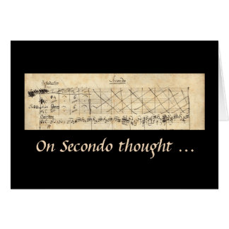 Mendelssohn Secondo Thought Sorry Apology card