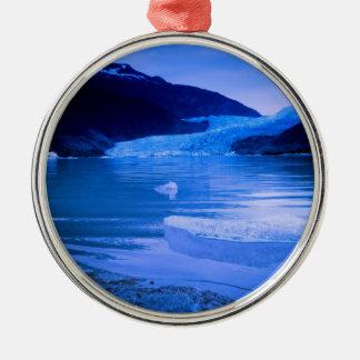 Mendenhall Glacier Twilight Metal Ornament