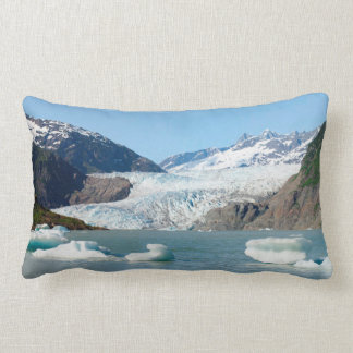 Mendenhall Glacier with and without icebergs Lumbar Pillow
