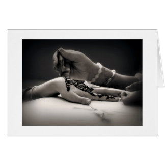 Mendhi Henna Greeting Card (with border)
