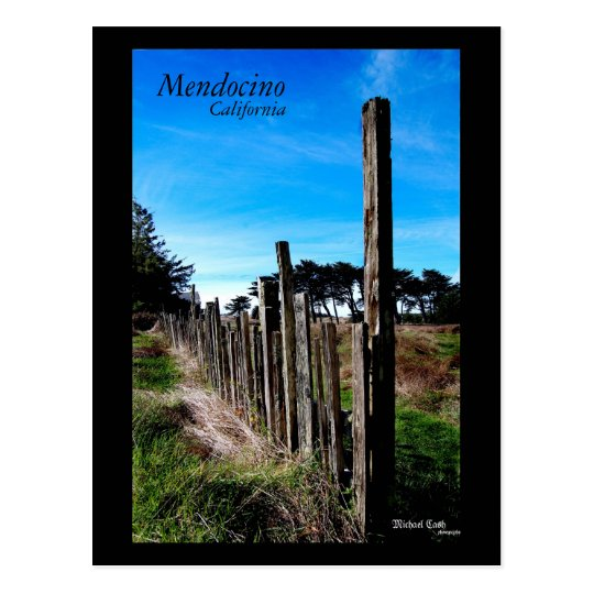 Mendocino California Postcard