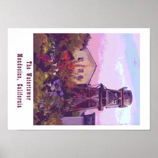 Mendocino Watertower Poster