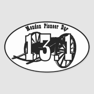 Mendon Pioneer Day Handcart 1/2 Official Decal Oval Sticker