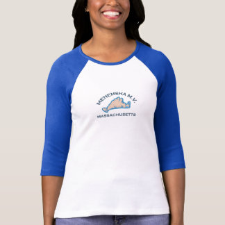 Menemsha Beach - Map Design. T-Shirt
