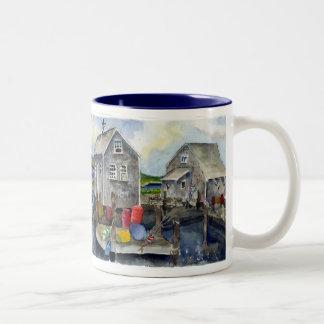 menemsha panorama Two-Tone coffee mug