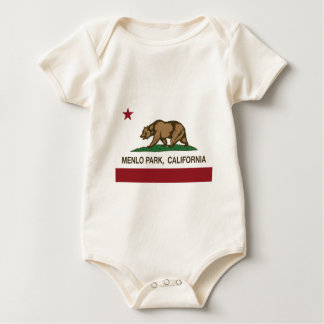Menlo park california flag baby bodysuit