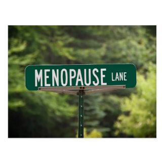 Menopause Lane Postcard