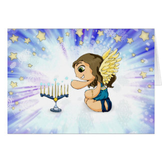 Menorah Angel Card