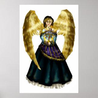 Menorah Angel Poster