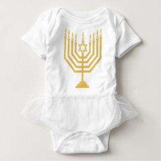 Menorah Baby Girl Tutu Outift Baby Bodysuit