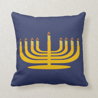 Menorah Candle Candlestick Hanuhkkah Pillow