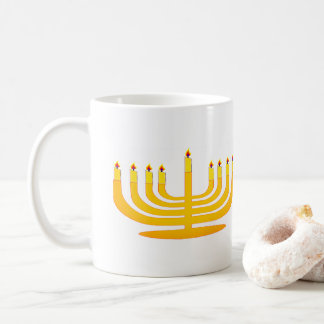 Menorah Candle stick Hanuhkkah Mug Cup Coffee Gift