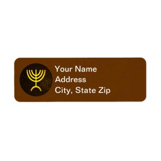 Menorah Flame Return Address Label