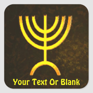 Menorah Flame Square Sticker