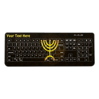 Menorah Flame Wireless Keyboard