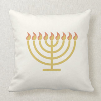 Menorah Flip - Stripes Throw Pillow