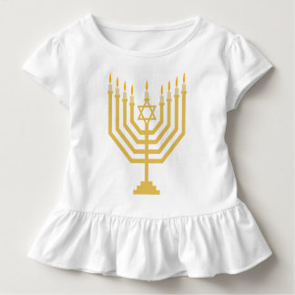 Menorah Girls Ruffle Top