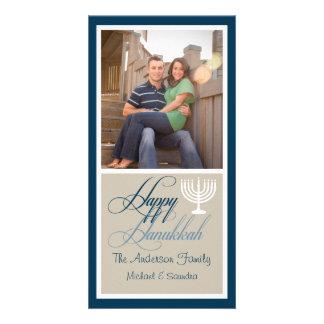 Menorah Hanukkah Photo Card